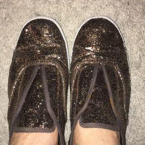 keds gap gold glitter slip on sneaker shoes sz 11